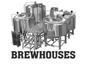 Electric 30BBL Large Brewing Equipment Mirror Polishing 316 Stainless Steel